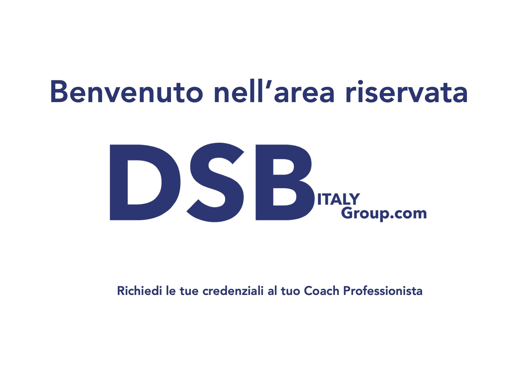 AREA RISERVATA DSB ITALY Group